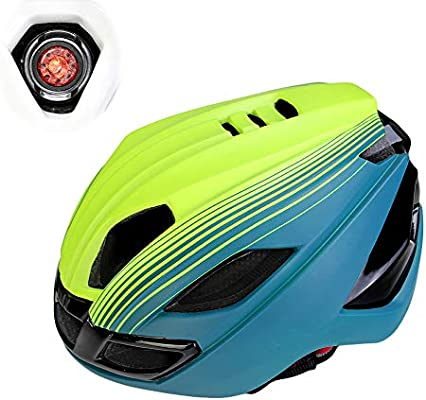 AH&Y Cascos de Ciclismo para Adultos Certificación CE con luz LED ...