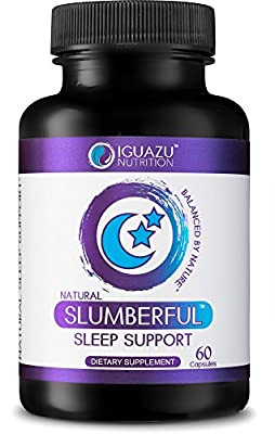 Slumberful Natural Sleep Aid - Premium Sleeping Pills With Valerian Root & Melatonin, Magnesium & other Natural Non Habit Forming Ingredients, Also Helps with Anxiety, Stress, Mood & Focus 60 Count