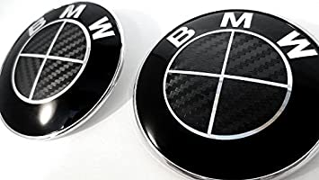 Amazoncom ALL BLACK Carbon Fiber Sticker Overlay Vinyl For All - All black bmw
