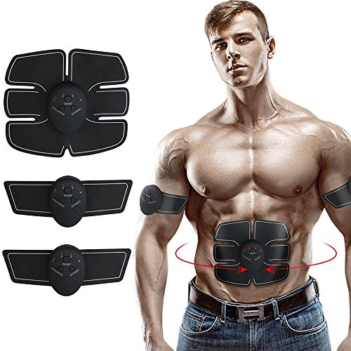 Electric Abdominal Muscle Toner, Charminer Abdominal Toning Belt, EMS Abs Trainer Wireless Body Gym Workout Home Office Fitness Equipment For Abdomen/Arm/Leg Training by Furlove
