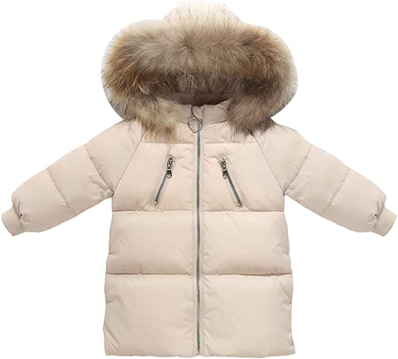 ca6de2861bdf ARAUS Kids Faux Fur Hood Down Coat Boy Girl Puffer Padded Long ...