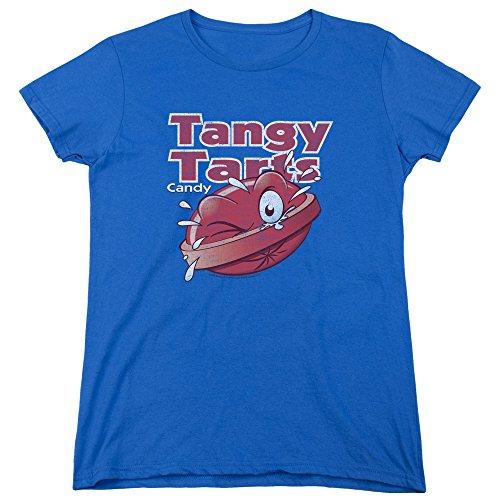 Trevco Dubble Bubble Tangy Tarts Women's T Shirt, Small Royal Blue