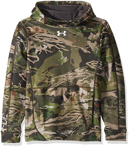Under Armour Boys' Zephyr Fleece Hoodie, Ua Forest Camo (940)/White, Youth Large
