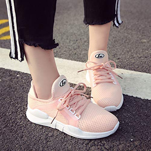 Lacets À Respirant Running Mesh Course Chaussures Rose Blanches Basket Femme Fitness Sport De Plates Casual Subfamily CUqOw56xw
