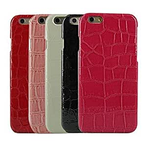 LCJ Crocodile Design Pattern Plastic Hard Back Cover for iPhone 6 Plus (Assorted Colors) , White