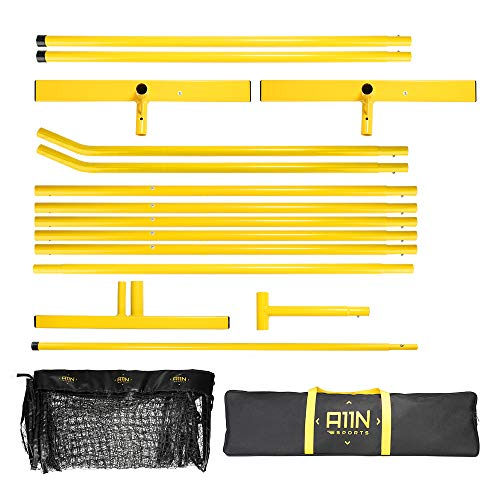 """A11N Portable Pickleball Net System, Designed for all Weather Conditions with Steady Metal Frame and Strong PE Net, Regulation Size Net with Carrying Bag- 22' Wide x 36"""" Tall, Indoor/Outdoor Use by A11N SPORTS (Image #2)"""