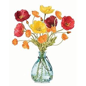 Poppy Passion Silk Flower Arrangement 81