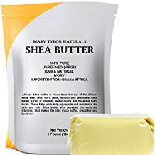 Organic Shea Butter 1 lb (453 g) Raw Unrefined Ivory Grade A. Premium Quality Amazing Skin Nourishment, Great For DIY Body Butters Lip Balms Lotions Acne Eczema & Stretch Marks By Mary Tylor Naturals