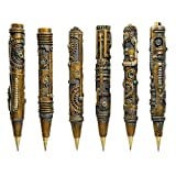 Design Toscano Industrial Steampunk Sculptural Ink Transport Pens, Gold