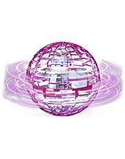 Flying ball Fidget Toys 2021 Upgraded Cool Magic Fly Orb Ball Mini Drones Toy, Flying Spinner Hand Gecontroleerd met 360 ° Roterende Globe LED verlichting voor kinderen volwassenen