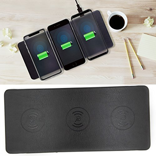 Qi Charging Stations Triple Wireless Charger Pad 3 Devices