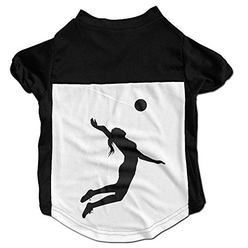 Volleyball Spike Pet Dog Cat Puppy T-shirt For Small Coat Dog Cat Vest - Beach Volleyball Candid