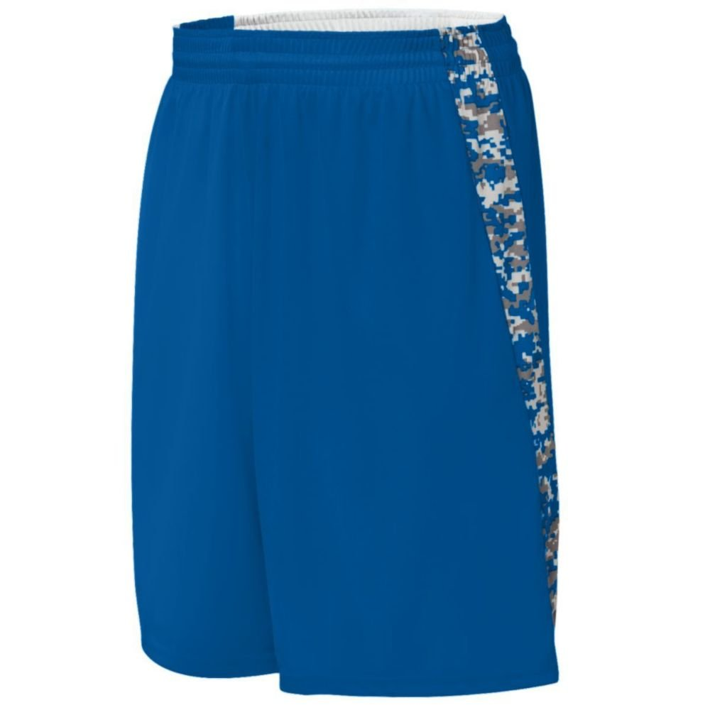 Augusta Activewear Hook Shot Reversible Short, Royal/Royal Digi, Medium by Augusta Activewear