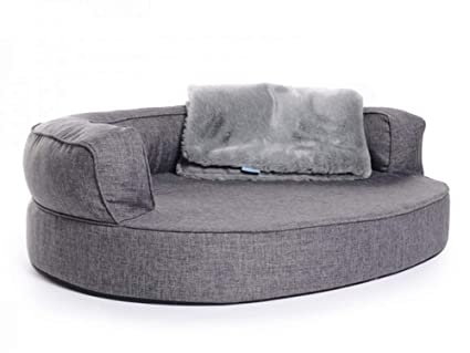 Cama para perros, perro Sofá Atlanta Softline poliéster gris, impermeable, feels like