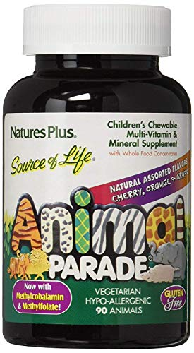 (Natures Plus Animal Parade Children's Chewable Multi - Assorted Flavors - 90 Chewable Tablets)