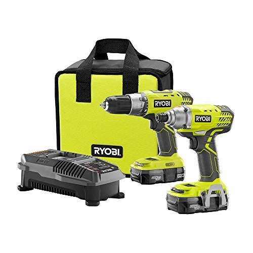 Ryobi P1832 18V Lithium-ion Drill and Impact Driver Kit (Single Speed Impact Drill)
