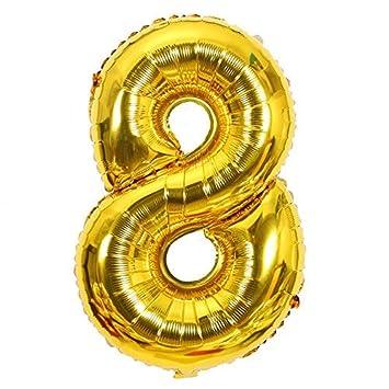ShopVip Globos de cumpleaños - número 8 - Decoración ...