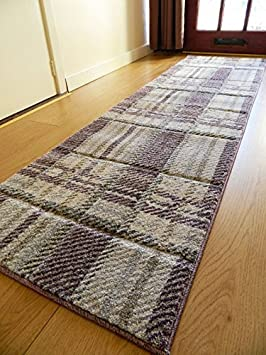 New Modern Thick Soft Quality Silver Purple  Floor Mat Rugs Long Hall Runners