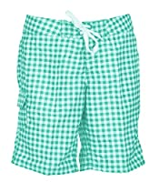 Kanu Surf Women's UPF 50+ Quick Dry Active Prints III Swim Boardshort, Lagoon Check, 0