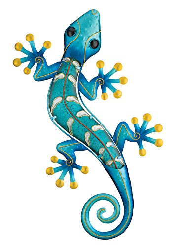 Tropical Wall Decor Art - Regal Art & Gift Gecko Wall Decor, 24-Inch, Blue