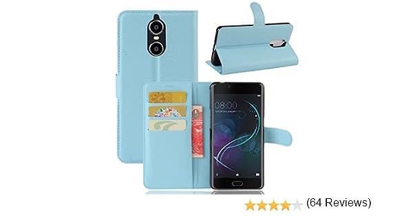 Guran® Funda de Cuero PU Para Doogee Shoot 1 Smartphone Función de Soporte con Ranura para Tarjetas Flip Case Cover Caso-azul: Amazon.es: Electrónica