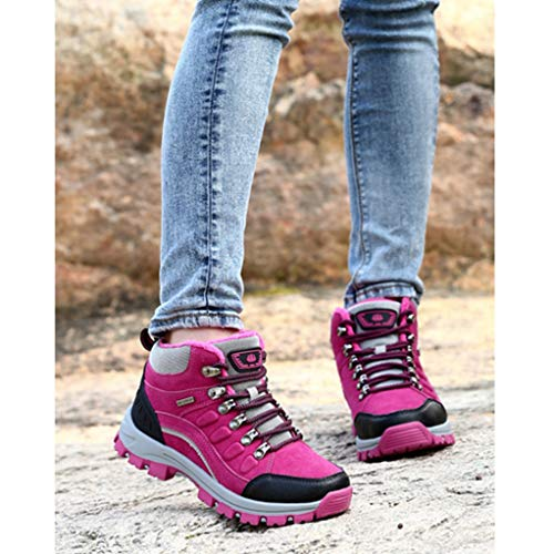 Shoes red Hiking Boots rose Up High Lace Jones Resistance Wear Women Top for Winter Giles Trekking Tfx45OZwqH