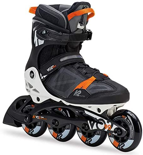 K2 Skate Men s VO2 90 Pro Inline Skate, Black White Orange, 5