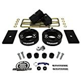 "Supreme Suspensions - Chevy Silverado GMC Sierra 1500 Full 3"" Front Billet Spacers (Black) + 1"" Rear Blocks Suspension Leveling Lift Kit 4x2 4x4 Includes Differential Drop + Shims PRO"