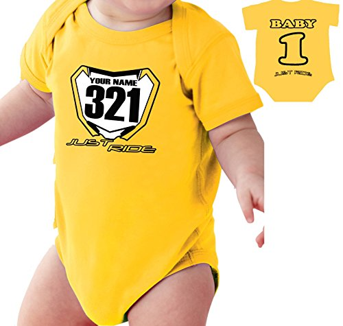 motocross-baby-number-plate-one-piece-creeper-personalized-suzuki-rm-yellow-nb-3-month