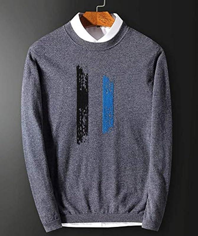 Męski sweter wiosna jesień dzianina elegancki sweter z dzianiny moda nowoczesna luźny długi rękaw nadruk sweter z dzianiny: Odzież