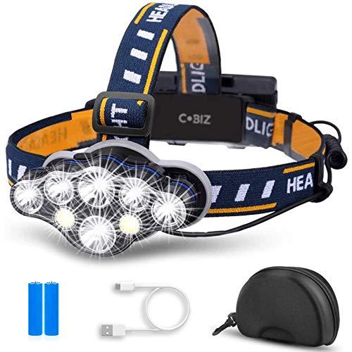 Cobiz LED Headlamp Rechargeable 2021 Newest 13000
