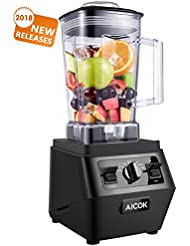 Aicok Smoothie Blender 1400W Professional High Speed Mixer 30,000RPM, with 70oz BPA-Free Tritan Pitcher, Variable Speed Controls, Stainless Steel 6 Pro Blades for Ice Crushing, Black