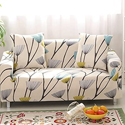 Lamberia Printed Sofa Cover Stretch Couch Cover Sofa Slipcovers for Couches and Loveseats with One Pillow Case