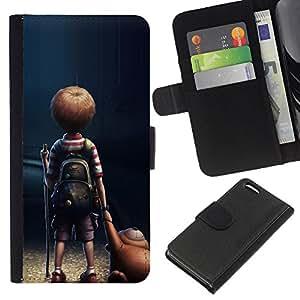 All Phone Most Case / Oferta Especial Cáscara Funda de cuero Monedero Cubierta de proteccion Caso / Wallet Case for Apple Iphone 5C // Mom Mother Cute Kid Son Night