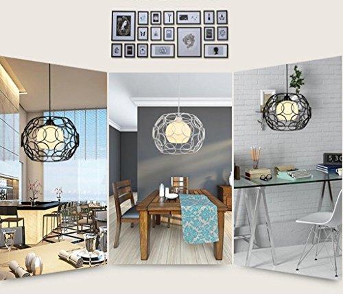 HOMEE Ceiling Chandelier-Restaurant ChandeliersPersonality Industrial Winds Bar Bedroom Simple Modern Aisle Pendant Lamps,White-10Cm by HOMEE