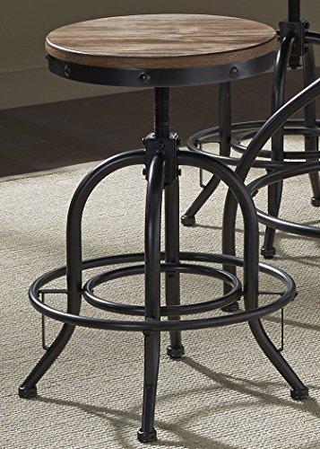 Liberty Furniture Industries 179-B000324 Vintage Dining Series 24-Inch Adjustable Barstool, Distressed Metal ()