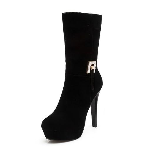 Girls Non-Slipping Sole Platform Zipper Xi Shi Velvet Boots