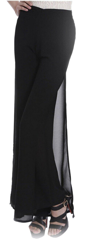 Fengbay Women's Fold-over Flare Wide Slinky Palazzo Pants