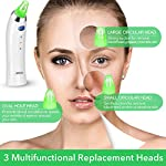 Blackhead Remover Pore Vacuum Cleaner - Blackhead Vacuum Comedone Extractor Tool Device Comedo Suction Kit Electric Face Nose Blackhead Whitehead Remover with 4 Replaceable Suction Head and LED Screen