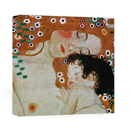 Canvas Wall Art - Mother and Child by Gustav Klimt Painting - 24