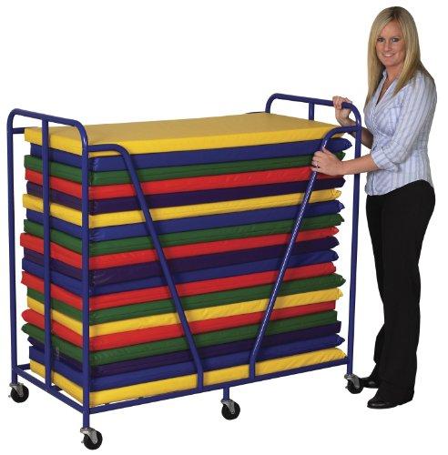 Ecr4kids Mobile Rest Mat Storage Trolley Blue Home Garden