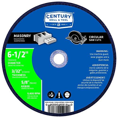 Century Drill and Tool 8606 Masonry Abrasive Saw Blade, 6-1/2-Inch (Circular Saw Blade Masonry compare prices)