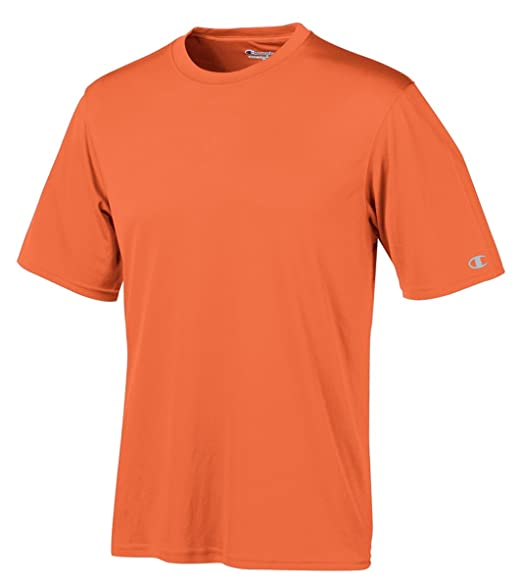 415a48dcb Champion Essential Double Dry T-Shirt, Orange at Amazon Men's ...