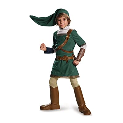 Link Prestige Legend of Zelda Nintendo Costume, Medium/7-8: Toys & Games