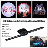 Makaor 3D Hologram Advertising Display 3D Holographic Imaging Naked Eye LED Fan (Machine size: 420mmx130xmm110mm, Black)