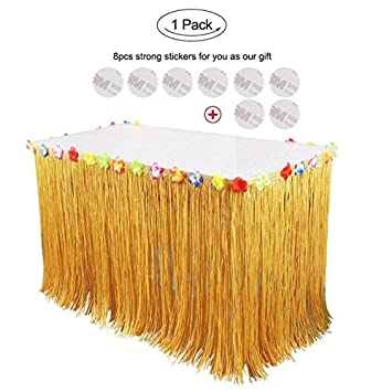 branxintm halloween props decorations artificial grass table skirt for home horror table decoration