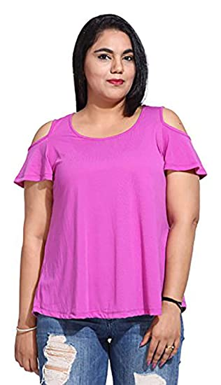 846a7af2a The Pink Moon Women s Plus Size Top  Amazon.in  Clothing   Accessories