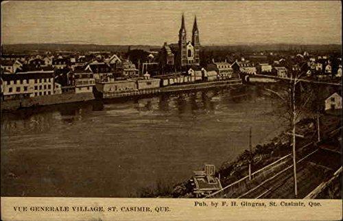 (Vue Generale Village St. Casimir, Quebec Canada Original Vintage Postcard )