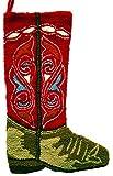 Santa's Workshop 18025 Hooked Cowboy Boot Stocking, 22'' ,,