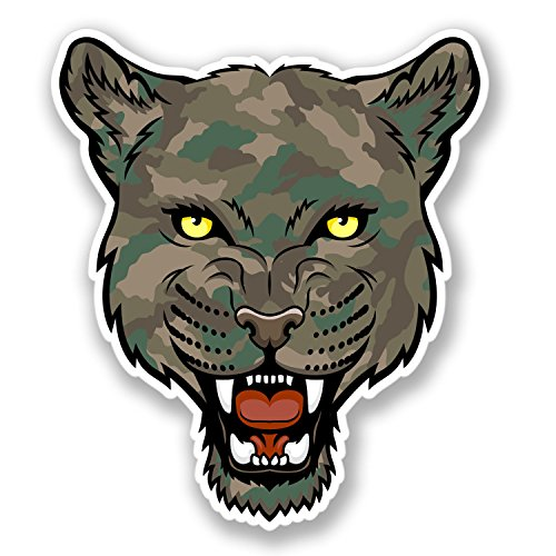 2 x Army Camo Panther Stickers